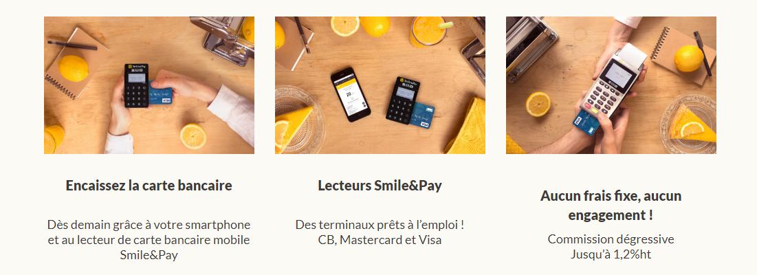 smile and pay paiement par carte bancaire